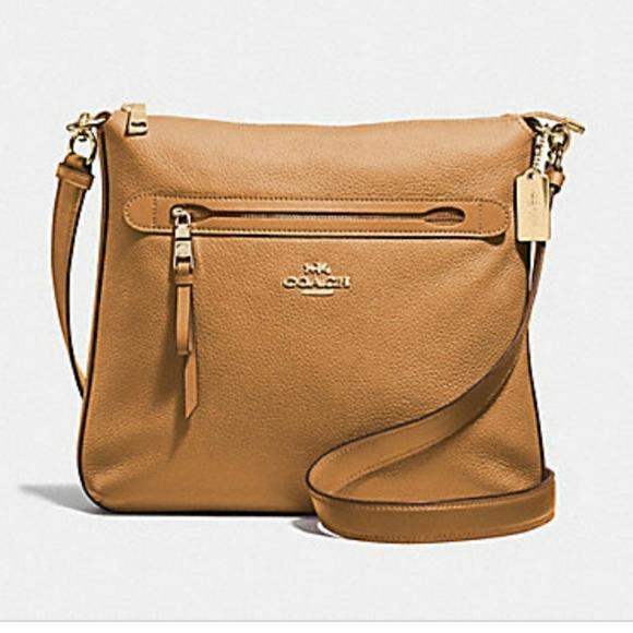 Coach Handbags - NWT Coach Pebbled Leather Mae Crossbody